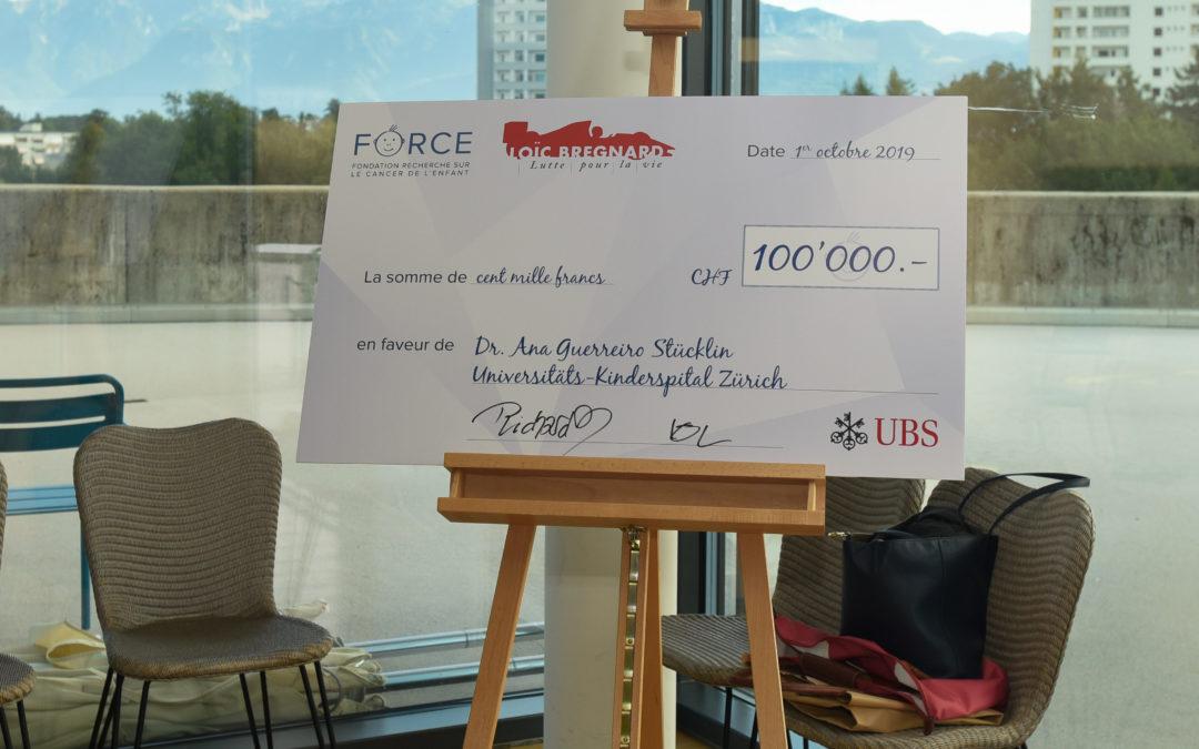 CHF 100'000 pour la recherche sur le médulloblastome